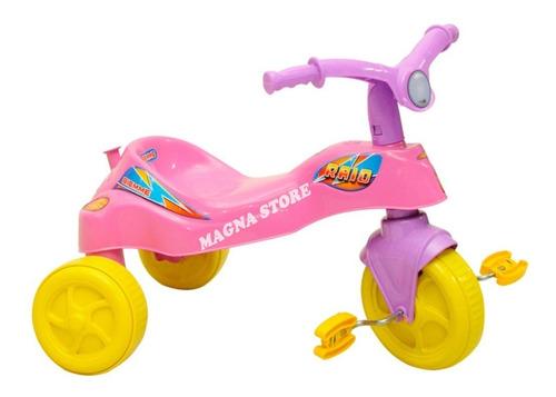 Imagen 1 de 10 de Triciclo Infantil Plastico Economico Rayo Girl Biemme 1a3año