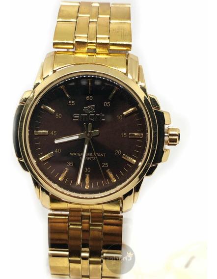 Relógio Dourado Lindo Original Promoção Barato Top!
