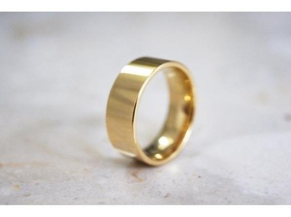Aliança Reta 5mm 5 Gramas Noivado Casamento Frete Grátis