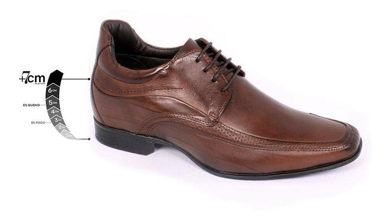 Zapato Formal Manager Café Max Denegri +7cms De Altura-30%