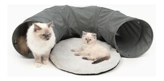 Tunel Interactivo Gatos Catit Juguete Cojin Para Dormir