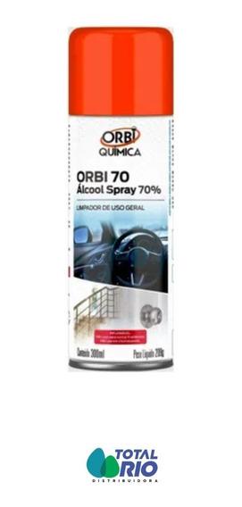 Álcool 70% Spray Orbi Antisséptico Certificado Anvisa