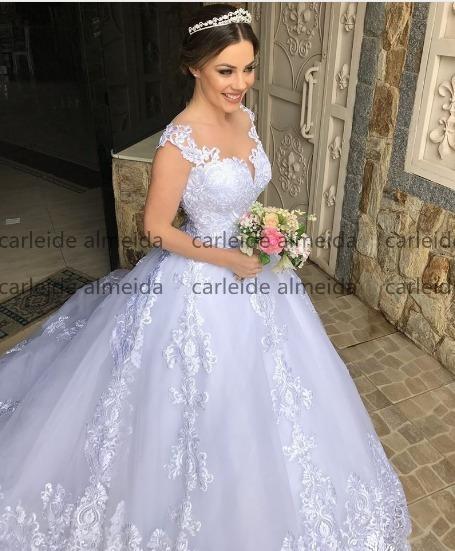 Vestido De Noiva De Luxo Atraente Back Robe D28