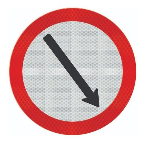 Placa Passagem Obrigatória C/ Adesivo Refletivo R-24b Ti
