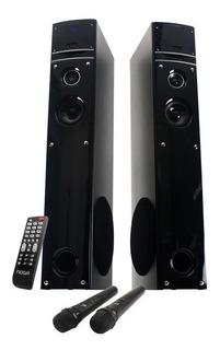 Parlantes Bafle Bluetooth Karaoke Noga Hts43 Wave 90w +2 Mic