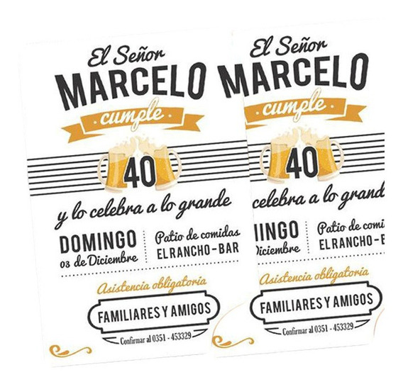 Invitaciones Digitales 40 Años Invitaciones Y Tarjetas En