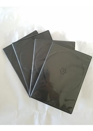 Estuches Carátulas De Dvd Negras En Perfecto Estado X10