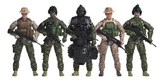 Elite Force Navy Seals Figura De Accion 5pack Con Bonus Halo
