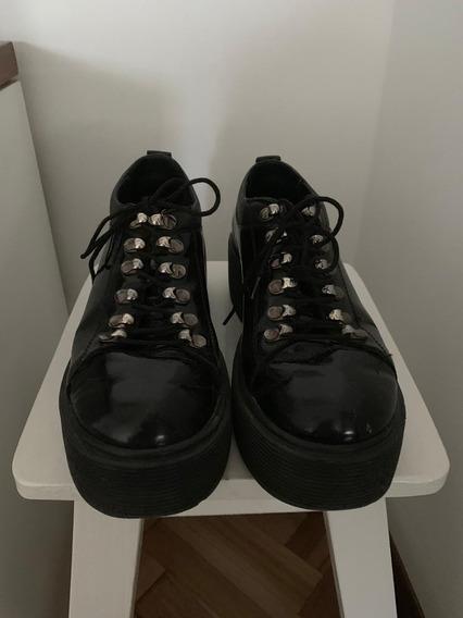 Botas Borcegos Zapatos Mujer Charol Febo 38