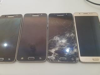 Lote Com 4 Samsung J7 Metal Com Display Quebrado