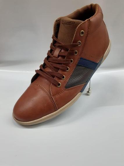 Zapatillas Botita De Cuerina De Hombres Nuevas