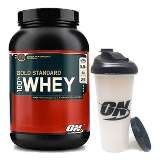 Optimum Nutrition Whey Gold Standard X 2 Lb + Vaso