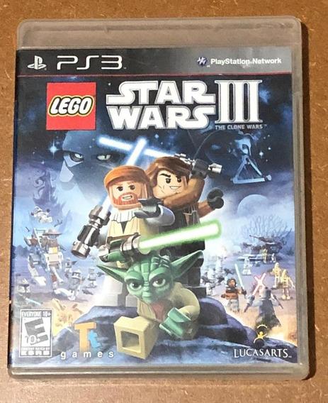 Jogo Ps3 Lego Star Wars Iii 3 The Clone Wars Midia Fisica