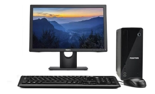 Imagem 1 de 7 de Cpu Positivo Intel Dual Core 4gb Hd 120gb Ssd + Monitor Dell