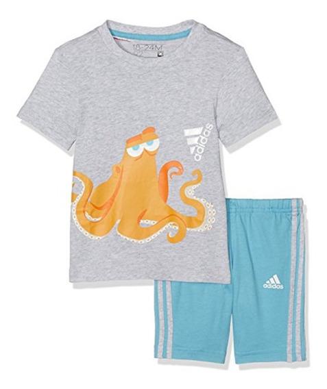 Conjunto Short Con Playera Disney Nemo Bebe adidas Ay6034