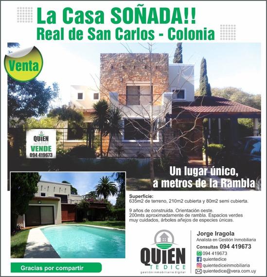 Excelente Casa En Real De San Carlos, 2 Plantas, Piscina
