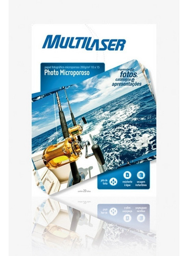 Papel Fotografico Microporoso A6 260gm Multilaser - Pe017