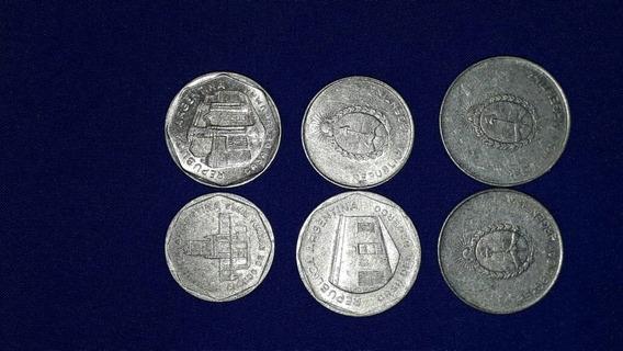 6 Monedas Serie Autral (1 A, 5a, 10a, 100a, 500a, 1000a)