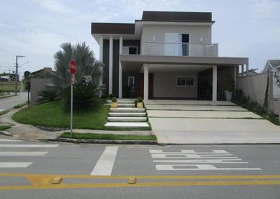 Excelente Casa De Esquina Com 300m² Em 438m² De Terreno No Floradas Do Paratehy - Urbanova - São José Dos Campos/sp - Ca0558