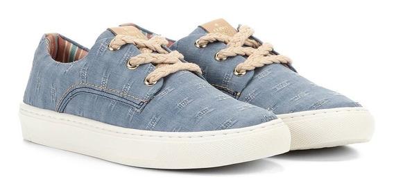 Tênis Cravo & Canela Super Leve Jeans Amarração 136440-2