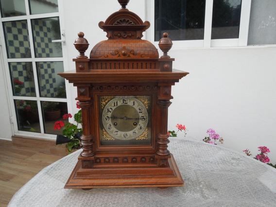 Antiguo Reloj Mesa Aleman Gong Junghans Victoriano