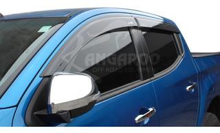 Aletas Bota Agua Mitsubishi L200 2016-2020 Inyeccion Negras