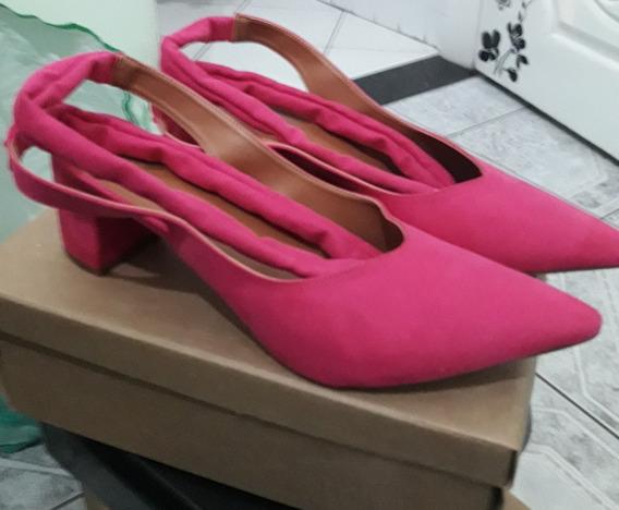 Scarpin Pink Amarrar