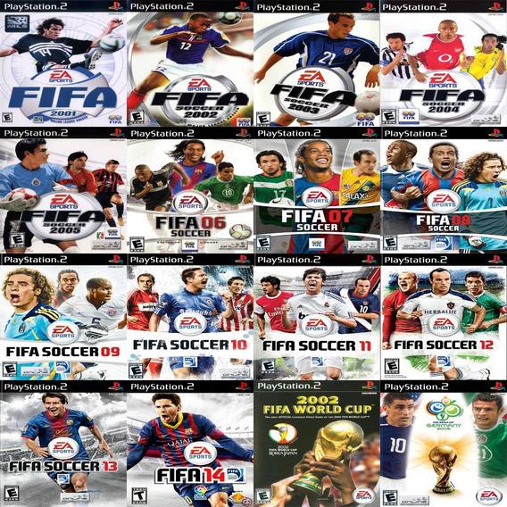 Promoção 3 Coleção 16 Jogos Fifa Soccer Ps2 Patch