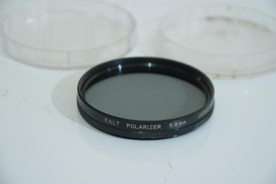 Filtro Kalt Polarizador 58mm Polarizer Japan No Estojo