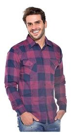 Camisa Social Xadrez Flanelada Gola Social P Ao G3 Ref 1007
