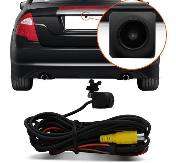 Mini Câmera De Ré Kx3 Colorida Universal 12v Preta