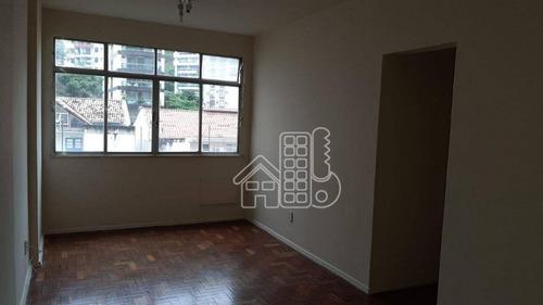 Apartamento Com 2 Dormitórios À Venda, 74 M² Por R$ 470.000,00 - Icaraí - Niterói/rj - Ap3044