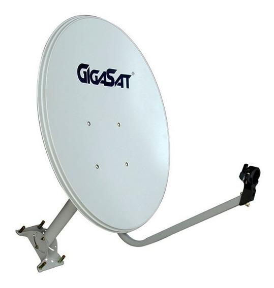 Antena Parabólica 60cm Base Flexível Ags-60f Gigasat