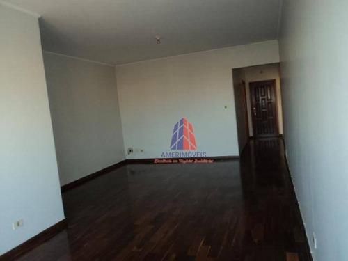 Apartamento Com 3 Dormitórios À Venda, 120 M² Por R$ 500.000 - Edifício Villa Lobos - Jardim Girassol - Americana/sp - Ap0356
