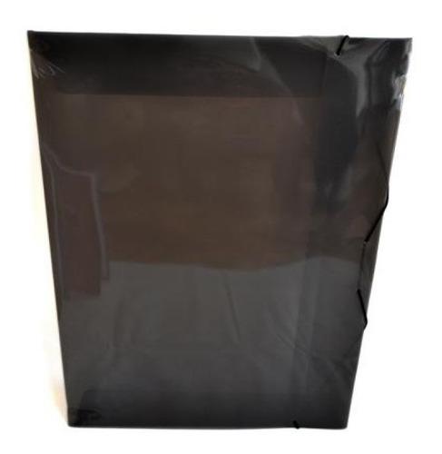 Carpeta Con Elástico 1/4 W Plástico Humo