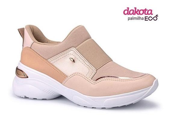 Tênis Feminino Dakota Snakers Flatform Slipon G2482 Oferta