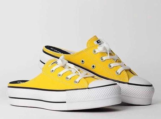 Zueco Converse Chuck Taylor Mule Sli Color Amarillas