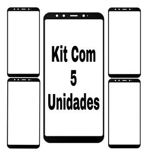 Película Celular Mi A2 Vidro Full Cover 3d Atacado Kit Com 5