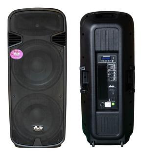 Bafle Columna Gbr 2x15 Activa 1500w Usb Bluetooth Sd