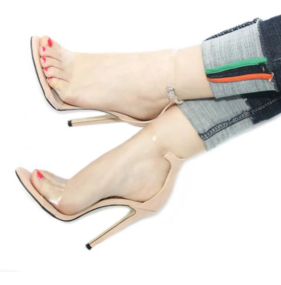 Zapatillas De Plataforma Transparents Color Beige