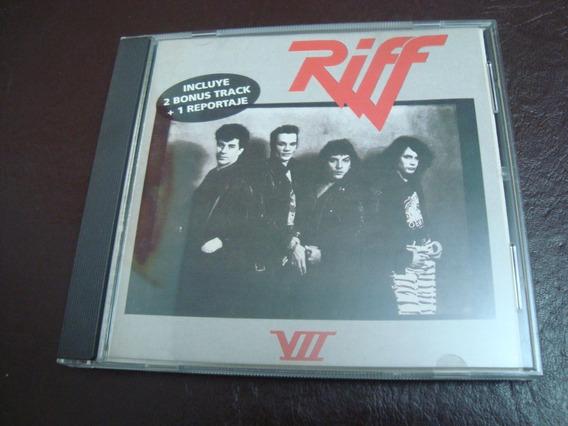 Riff 7 Vii Cd Primer Edicion 1995 Como Nuevo