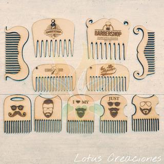 Combo Promo 20 Peines Barbershop Con Tu Logo -corte Láser-