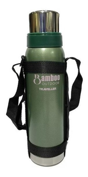Termo Acero Inoxidable Bamboo Traveller 1 Litro Frio Calor