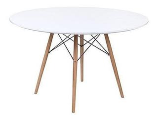 Mesa Eames Redonda 100 Cm Diseño Vintage / Kubus