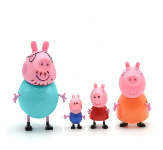 Brinquedo Peppa George Família Pig Completa Boneco Miniatura