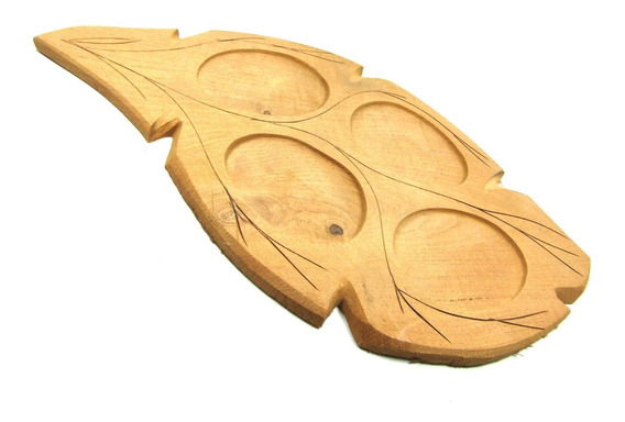 Tablas Algarrobo Hoja Para Picadas 4 Cavidades