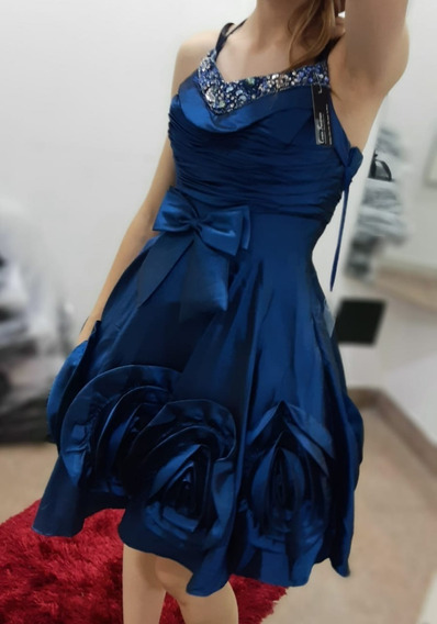 Vestido De Fiesta Azul
