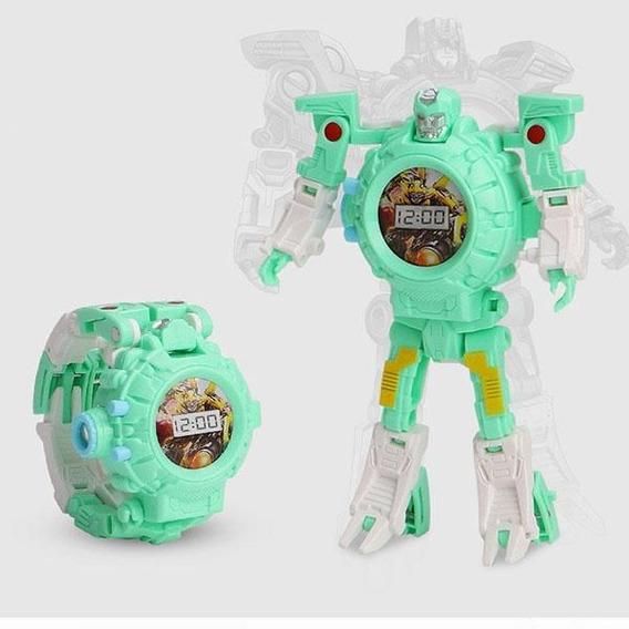 Relógio Transformers Vira Robô Para Acabar Super Promoção !!
