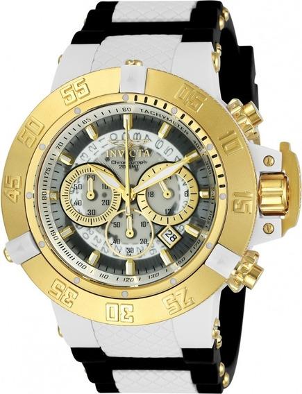 Relógio Invicta Subaqua Noma 0928 50mm Ouro 18k C/maleta