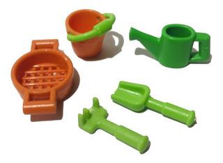 Playmobil Set Juguetes De Playa Arenero X 5 Unidades Nuevos